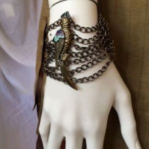Anthropologie Jewelry - ✨ANTHROPOLOGIE❤️ PARROT CHAIN-MAIL TOGGLE BRACELET