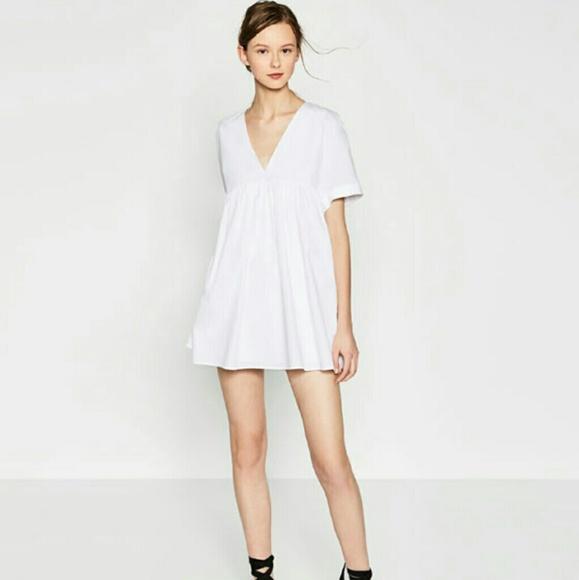 c13ddb875ef Zara Poplin Jumpsuit Dress