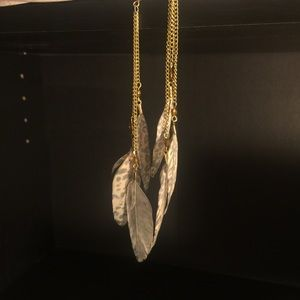 Feathered chain earrings