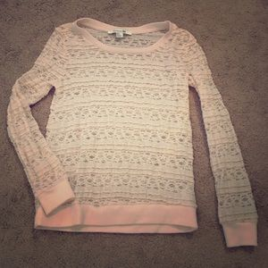 F21 Long Sleeve Lace top