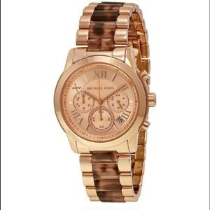 NWT Michael Kors Cooper Rose Gold Watch MK6155