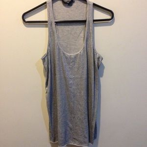 Vince Tops - Vince Gray Silver Sequin Tank Top
