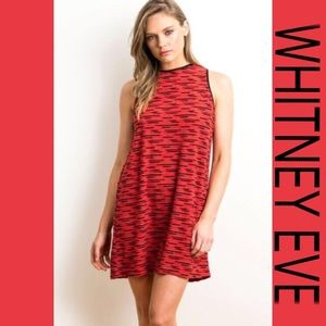 Whitney Eve Dresses & Skirts - 🔴WHITNEY EVE RED & BLACK TIGER DRESS S,M,L