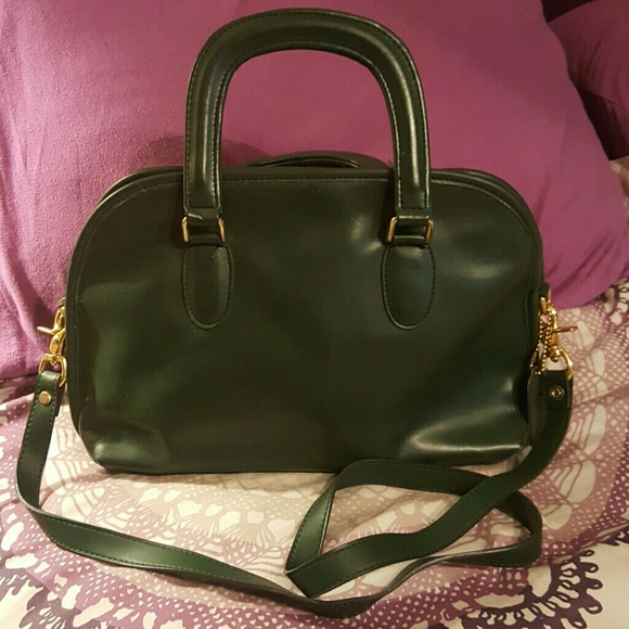 85% off Coach Handbags - Vintage Coach Forest Green Baxter Bag ...