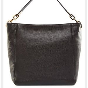 NWT Michael Kors Medium Fulton Bag Black Leather