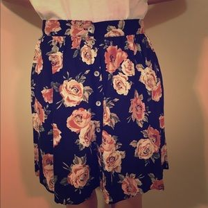 NEW W TAGS Forever21 Vintage Inspired Floral Skirt