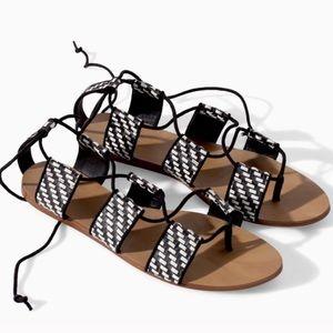 Zara Shoes - Zara tie sandals 💋
