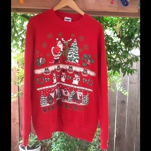 Adult XL oversize baggy ugly Christmas Sweatshirt