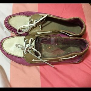 Aldo Pink Leather Boat Shoes Sz 8.5