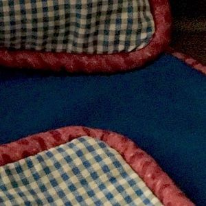 NEW Eastern Accents Check/Solid Blue Pillow Cover