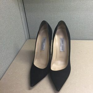 Jimmy Choo Black suede pumps