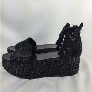 ZARA raffia flatform sandals Size 41