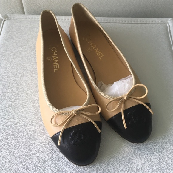 68eab19f18512 CHANEL Shoes - CHANEL Two-Tone Ballerina Flats ... Authentic