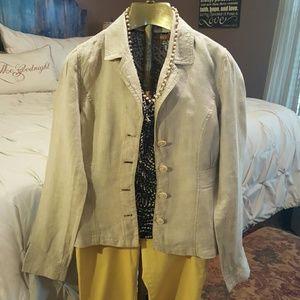 Jackets & Blazers - Linen Blazer coat (lightweight)