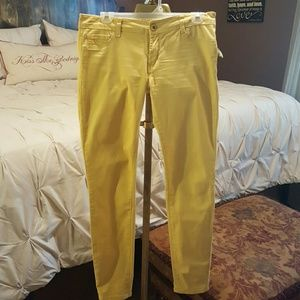 Pants - Yellow Skinny jeans (flattering fit)