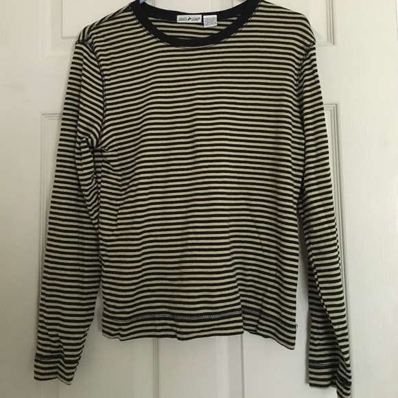 50 Off White Stag Tops Long Sleeve Shirt With Black And