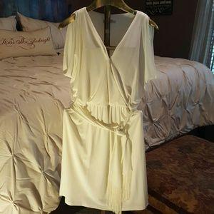 Dresses & Skirts - London Times Cream Dress (Guaranteed whistles!)