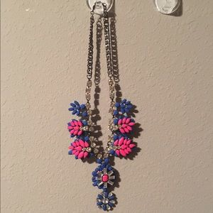 Blue & pink statement necklace