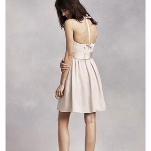 Short Halter White Dress
