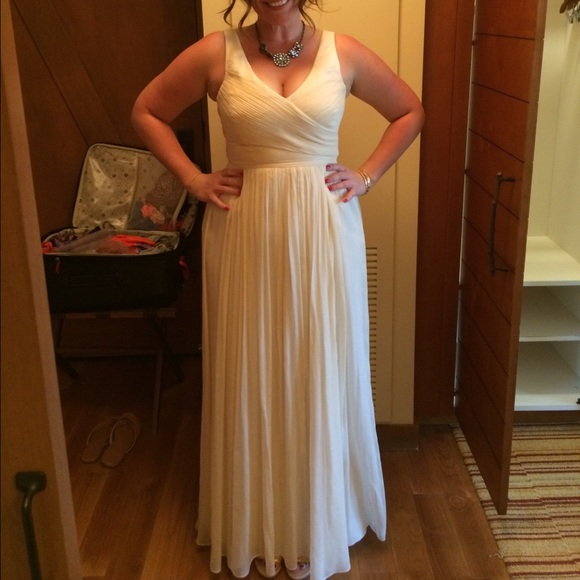 Jcrew Heidi Dress (long, off white, size 10)