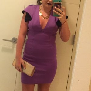 Robert Rodriguez  purple Bonded neo dress