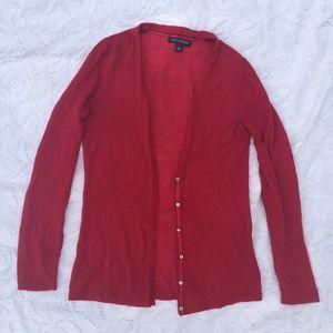 Banana Republic Sweaters - Banana Republic Red Italian Yarn Cardigan