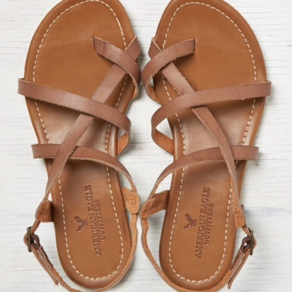7ace75defbf American Eagle strappy cross cross sandals