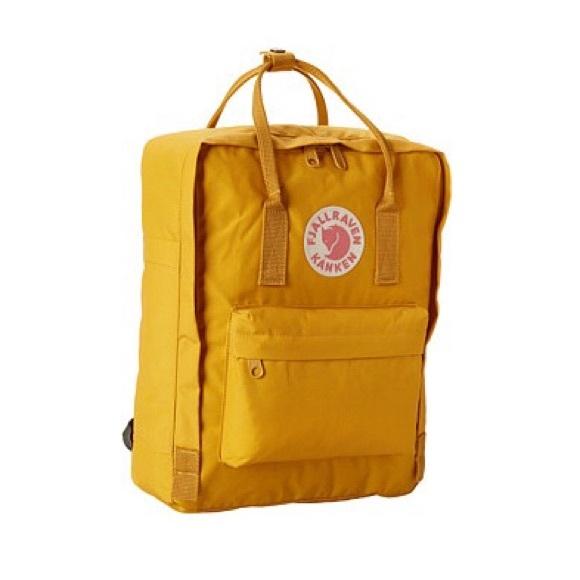 7223ebe107f0 Fjallraven Kanken Mustard Yellow Backpack