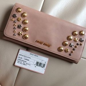 Miu Miu Handbags - Authentic Miu Miu studded wallet
