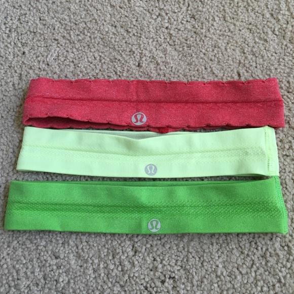 Lululemon Athletica Lululemon Headbands Textured From