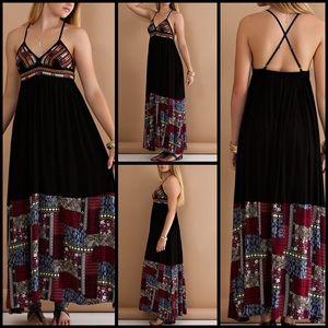 Dresses & Skirts - Bohemian Spaghetti Strap Maxi Dress