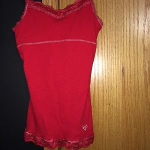 Red tank top SIZE: 18