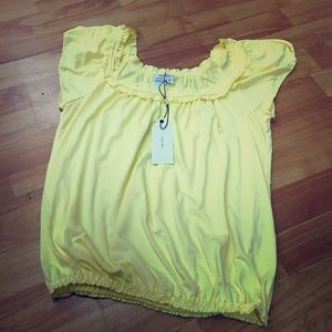 Sophie Max Tops - Sophie Max Yellow Butter Soft Knit Top XS