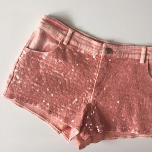 Do & Be Pants - Do & Be Pink Sequin Shorts