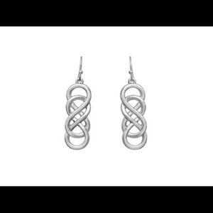 Jewelry - infinity twisted silver or gold earrings.