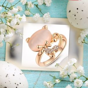 💥SALE💥 Rose gold opal crystals diamond ring