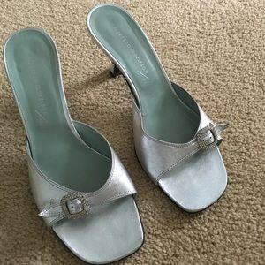 Sigerson Morrison Shoes - Sigerson Morrison slide silver shoe