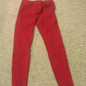 Zara Never Worn Red Jeggings