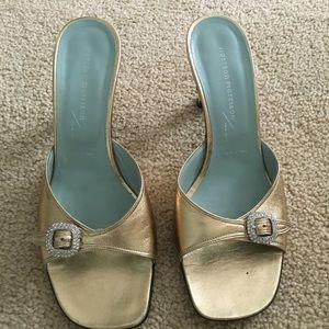 Sigerson Morrison Shoes - Sigerson Morrison gold slides