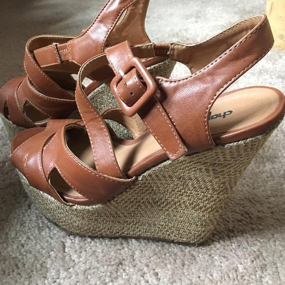 250dad571fccb4 Charlotte Russe Shoes - Cute brown Charlotte Russe platform wedges