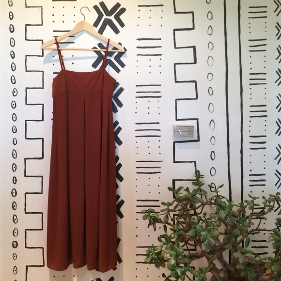 d4dc0266442c WhoWhatWear for Target Apron Slip Dress - Rust. M_577ed4104127d01c03003192