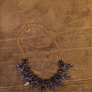 Natasha couture crystal leaf statement necklace