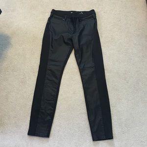 3x1 Denim - 3 x 1 Leather Detail Black Jeans