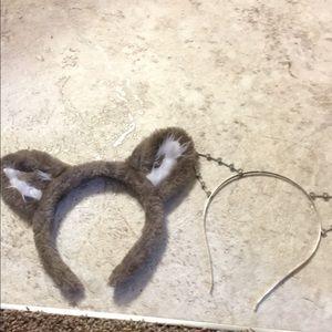 Sparkley wolf ear headbands