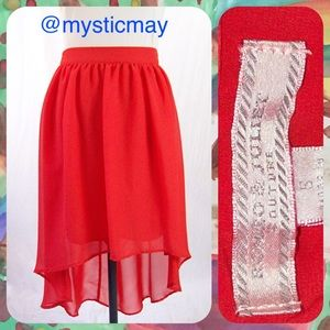 Romeo & Juliet Couture Dresses & Skirts - Reddish Hi-Lo Pleated Chiffon Skirt Size S or 2/4