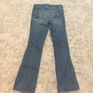 Size 25  : 7 for all mankind flared jeans