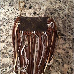 Authentic fringe Louis Vuitton key cles