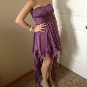 Foreign Exchange Dresses & Skirts - Purple high low evening dress
