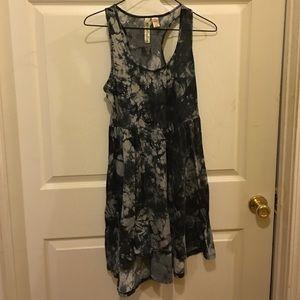 Gray Tie Dye Dress