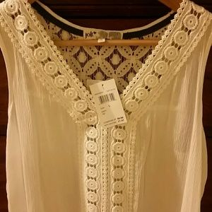 Jolt Tops - Sprint top 🌼🌼🌼Soft white lacy top